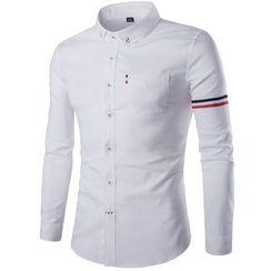 百高 - 條紋長袖襯衫