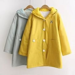 Musume - Embroidered Buttoned Coat
