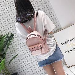 Bibiba - Studded Straw Backpack