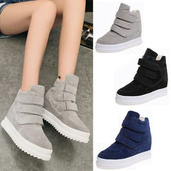 BAYO - Velcro Hidden Wedge High-Top Sneakers