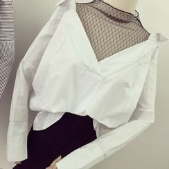 Honeydew - Mock Two-Piece Blouse