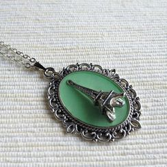 MyLittleThing - Silver Paris Necklace (Mint)