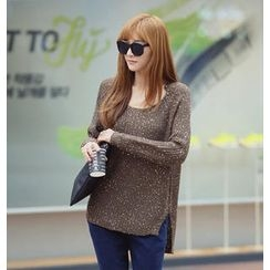 REDOPIN - Raglan-Sleeve Sequined Sweater