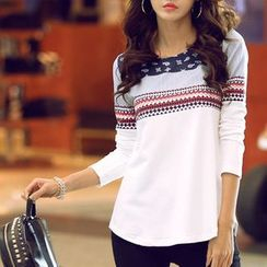Zyote - Patterned Long-Sleeve T-Shirt