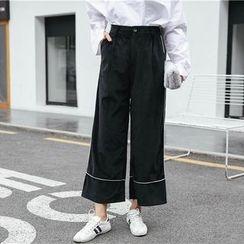 Suyisoda - 丝绒宽脚裤