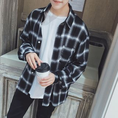 uninukoo - Plaid Long-Sleeve Shirt