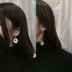 Calypso - Non-matching Scallop Drop Earrings