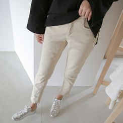 JUSTONE - Flat-Front Tapered Pants