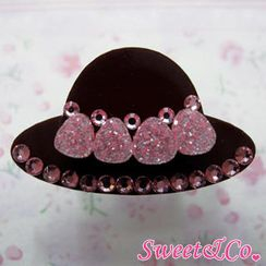 Sweet & Co. - Sweet Pink Swarovski Crystal Strawberry Choco Hat Ring