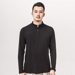Ashen - Chinese-Style Long-Sleeved T-Shirt