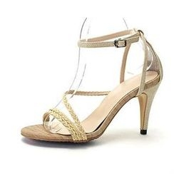 MODELSIS - Braided Ankle-Strap Sandals