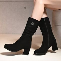 Shoes Galore - Chunky Heel Boots