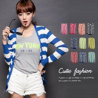 CUTIE FASHION - Striped Cardigan