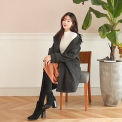 Seoul Fashion - Epaulet Belted-Cuff Wool Trench Coat