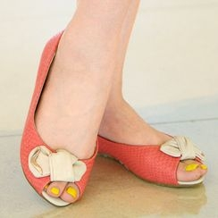 59th Street - Twist-Front Open-Toe Flats
