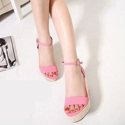 Colorful Shoes - Wedge Sandals