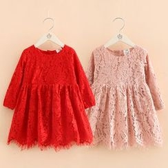 Seashells Kids - Kids Lace Long-Sleeve A-Line Dress