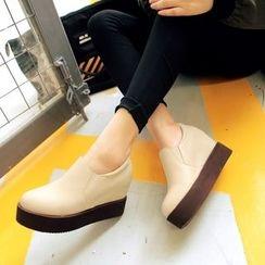 Pastel Pairs - 內增高厚底輕便鞋