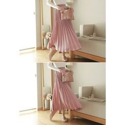MyFiona - Accordion-Pleat Long Skirt