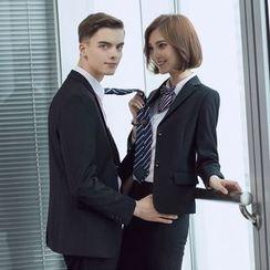 Mija - 情侣套装: 纯色西装外套 + 西裤