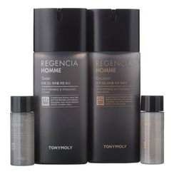 Tony Moly - Regencia Homme Set: Toner 130ml + Emulsion 130ml + Toner 20ml +Emulsion 20ml