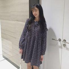 Dute - Dotted Long Sleeve Dress
