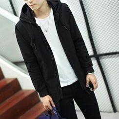 Mitouomo - Plain Hooded Zip Jacket