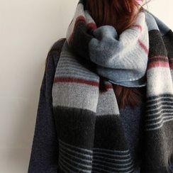 NIPONJJUYA - Multi-Stripe Long Knit Scarf