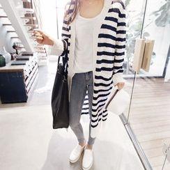 NANING9 - Striped Long Cardigan