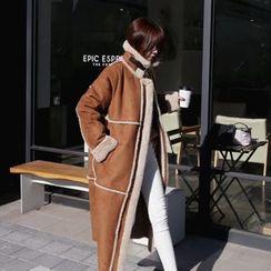 DABAGIRL - Faux-Shearling Long Jacket