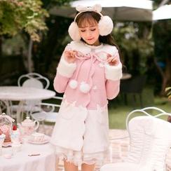 Candy Rain - Floral Applique Two-Tone Coat