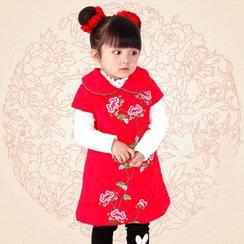 Emperial - Kids Sleeveless Floral Cheongsam