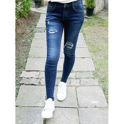 LOLOten - Distressed Skinny Jeans