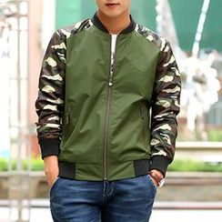 Evzen - Camo Panel Zip Jacket