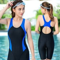 Blue Lagoon - Two-Tone Swimsuit