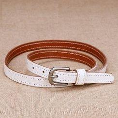 BAIEKU - Genuine Leather Slim Belt