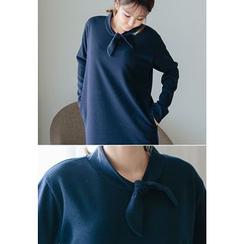 REDOPIN - Tie-Neck Shift Dress