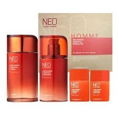 The Face Shop - Neo Classic Homme Red Energy Essential Set: Toner 140ml + 30ml + Emulsion 110ml + 30ml