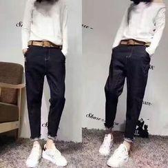 Tulander - 散邊垂胯牛仔褲