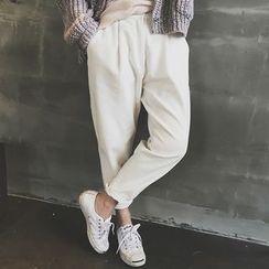 Supernini - Pleated Front Baggy Corduroy Pants