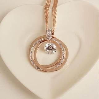 Love Generation - Rhinestone Ring Necklace
