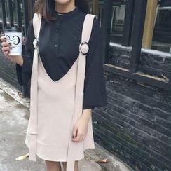 Dasim - V-Neck Jumper Skirt