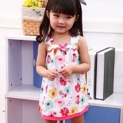 Emperial - Kids Floral Print Sleeveless Dress