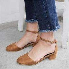 QNIGIRLS - Ankle-Strap Pumps