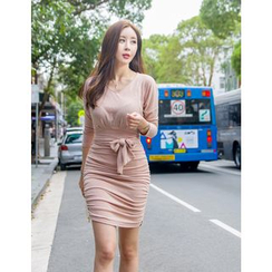 GUMZZI - Tie-Waist Bodycon Dress