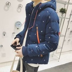 JUN.LEE - Patterned Padded Coat