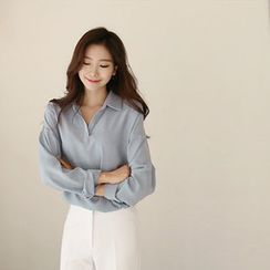 Hello sweety - Open-Placket Blouse