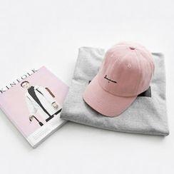 NIPONJJUYA - Lettering Cotton Baseball Cap