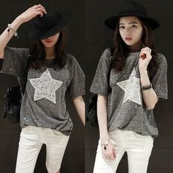 VIZZI - Short-Sleeve Star T-Shirt