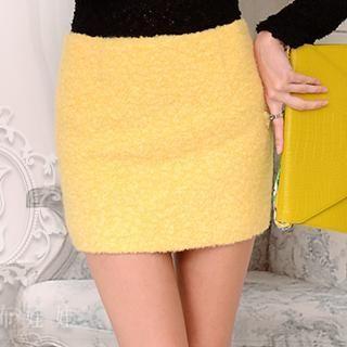 Dabuwawa - Wool-Blend Miniskirt